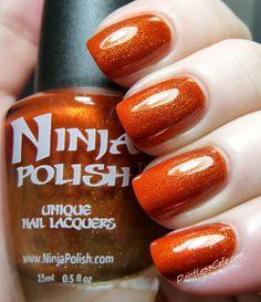 Ninja Polish Fire Opal Dreams Ninja Nail Polish Lacquer Floam Holographic metallic effect nail polish @opulentnails #ninjanails #floam
