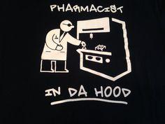 Pharmacist in Da Hood T Shirt Tee Urban Streetwear Black White XL Excellent Cond #Hanes #GraphicTee #Meth #Methlab #Cookin #Urbanstreetwear #Breakingbad #Walterwhite