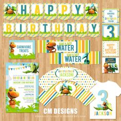 Dinosaur Train Birthday DIY Printable Party by DesignsbyCassieCM