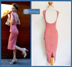 Rocky and Bullwiggle Mini Peplum Pin Up Dress by SolinDesigns
