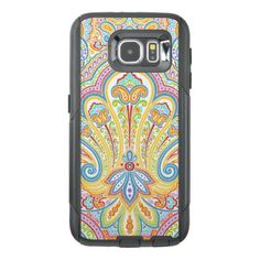 Ornate Hand Drawn Paisley Floral Motif OtterBox Samsung Galaxy S6 Case - girly gift gifts ideas cyo diy special unique