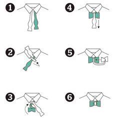 Fliegen binden in 6 Schritten