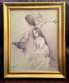 Sketch Art Lithograph   THREE SISTERS  By by CoCoBlueTreasures
