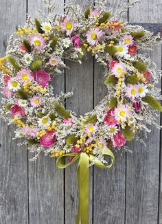 Floral Wreath, Wreaths, Spring, Fall, Flowers, Decoration, Home Decor, Crowns, Doors