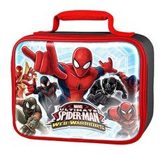 #Spiderman Lunch Box Insulated Kids Snack Container Pail Thermos Bag Boys NEW #Thermos #LunchBox