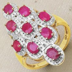 2.25CTW Genuine Ruby 14K Yellow Gold Plated .925 Sterling Silver Ring - http://www.johareez.com/shop/justbuyit/rings/2-25ctw-genuine-ruby-14k-yellow-gold-plated-925-sterling-silver-ring-1-27265/$10623019