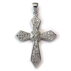 Nickel Free Italian .925 Sterling Silver and Cubic Zirconia Cross Pendant 22 mm ND Outlet - Pendants. $19.99. Save 60% Off!