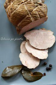 Składniki: 1,2 kg szynki 2 łyżki majeranku 6 łyżek soli 1 łyżeczka czarnego pieprzu w ziarnach 1 łyżeczka ziaren ziela angielski...
