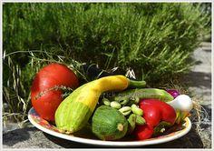 Plat de légumes du soleil dans mon jardin ©Kaderick en Kuizinn