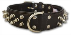 Casual Canine Deluxe #Spiked Leather Dog #Collar