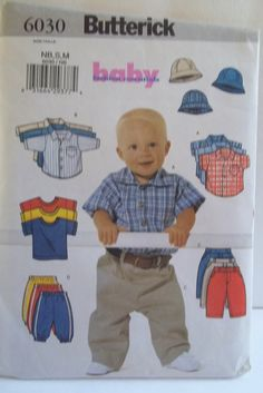 Infant Boy's Wardrobe Sewing Pattern Butterick by WitsEndDesign