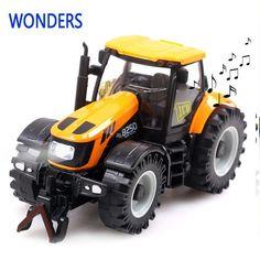 1:32高品質合金グライド農民車子供のおもちゃモデルのおもちゃで音楽、赤ちゃん知育玩具