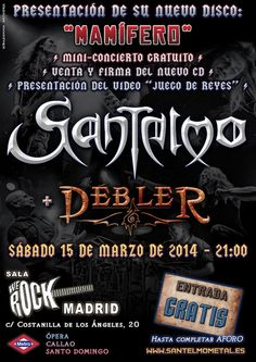 Metalcry.com :: Tu Web de Rock y Metal – SANTELMO + DEBLER – SALA WE ROCK, MADRID – 15/03/2014