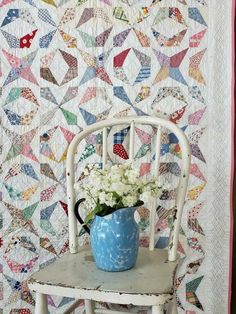Stunning Vintage 1930s QUILT Rare Spectaucular Pattern & Never Used