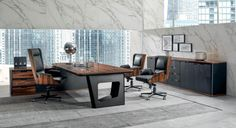 Classic office furniture Avatar by design Umberto Asnago Classic Office Furniture, Possible Combinations, Decoration, Furniture Sets, Avatar, Desk, Luxury, Wood, Table