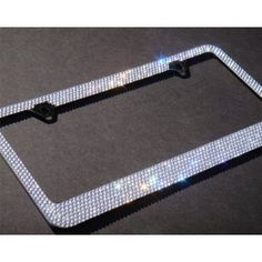 bling 7 rows whiteclear a style screw cap diamond rhinestone metal chrome license plate frame wanelo