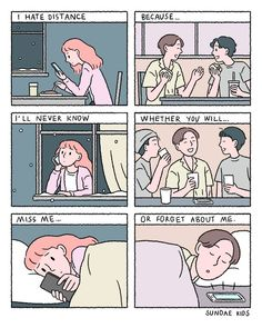 Cute Couple Comics, Couples Comics, Cute Couple Art, Couple Cartoon, Funny Couples, Cute Comics, Cute Love Memes, Cute Quotes, Sundae Kids