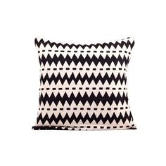 "Wavy Stripes Pillow 16"" Black"