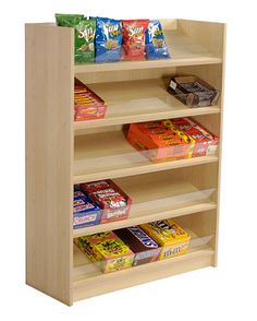 You've got the goods, we have the Maple 5 Shelf Wood Candy Display that's perfect for you. Candy Store Display, Store Displays, Home Cinema Room, Home Theater Rooms, Rack Design, Store Design, Display Shelves, Shelving, Display Stands