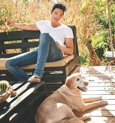 We're Swooning Over Criminal Minds Star Daniel Henney And His Goldens Korean Men, Asian Men, Asian Guys, Boy Models, Male Models, Asian Actors, Korean Actors, Daniel Henney Criminal Minds, Daniel Henny