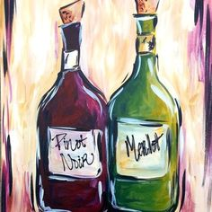 Eclipse de Luna - 2/17/14 - Wine Bottles from Canvas By U! for $30 on Square Market