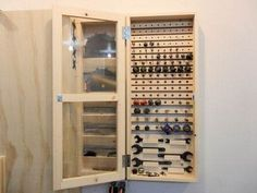 how to make a router bit cabinet