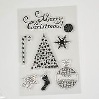 Merry christmas sery Clear Transparent Stamp DIY Scrapbooking/Card Making/Christmas Decoration Supplies
