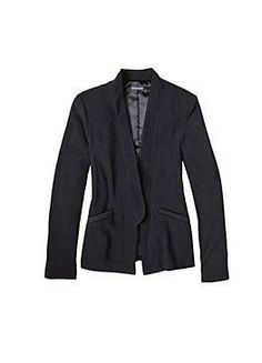 #eileenfisher Great jacket for travel, dresses up for dinner or with jeans for a stroll in St. Germain.