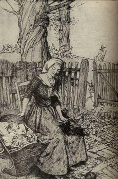 Pesant Dress... love the scarf covering the hair. Arthur Rackham
