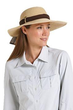 0ba631e7c43 Coolibar SmartStraw Packable Tropicana Sun Hat Summer Hats