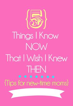 5 Tips for New-time Moms on { lilluna.com }