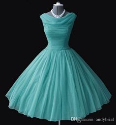 1950's 50s Vintage Bridesmaid Dresses Ball Gown Bateau Neckline Tea-Length Prom Dresses Short Party Gowns Homecoming/Graduation Dresses from Andybrial,$102.62 | DHgate.com