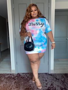 Thick Girls Outfits, Cute Outfits With Jeans, Curvy Girl Outfits, Girls Summer Outfits, Plus Size Outfits, Fat Girl Fashion, Curvy Women Fashion, Plus Size Fashion, Plus Sise