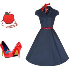 A fashion look from April 2015 featuring red pumps and red purse. Browse and shop related looks. Dresses For Work, Plus Size, Shoe Bag, My Style, Pretty, Shoes, Collection, Shopping, Design