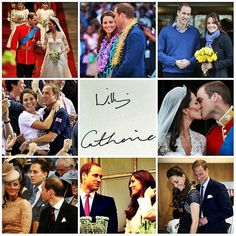 Prince William & Kate photo collage.