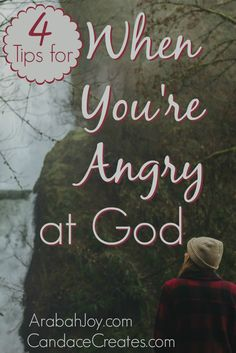 Do you ever find yourself angry at God? Our faith can still remain completely intact in these difficult seasons. Find encouragement here…