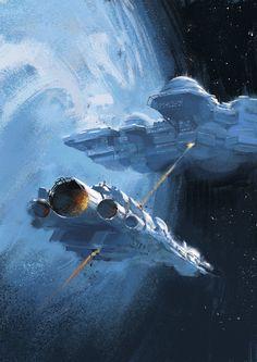 """""""The Battle of Neptune IV"""", Oliver Cuthbertson on ArtStation at https://www.artstation.com/artwork/the-battle-of-neptune-iv"""