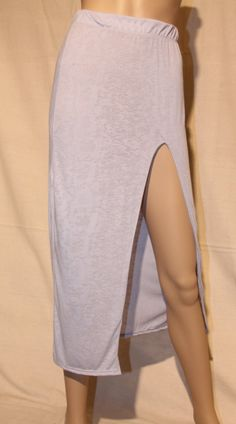 opaque-blue-maxi-skirt-with-front-slit