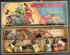 MICKEY MOUSE 1930's NOMA boxed Christmas Light Set from cali4nigrl on Ruby Lane