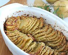 Patate sottili gratinate al forno | ricetta facile contorno vegetarino