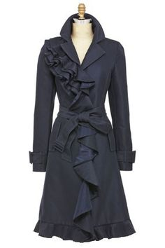 lovely ruffle trench