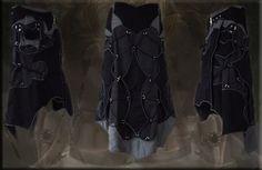 alternative boho chic cybergoth gotic neo tribal apocalyptic skirt black