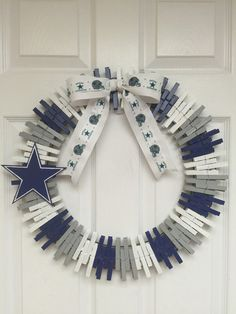 Dallas Cowboys Wreath by RexFamilyShop on Etsy