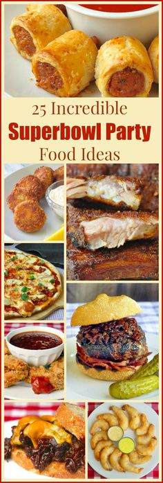 Rock Recipes Best Super Bowl Party Food Ideas - 25 of our best recipe ideas to make your Super Bowl Party a sure winner no matter who you're rooting for. Our best wings, ribs, burgers, pulled pork, pizza and so much more, all in one place to make planning your Superbowl party a breeze.