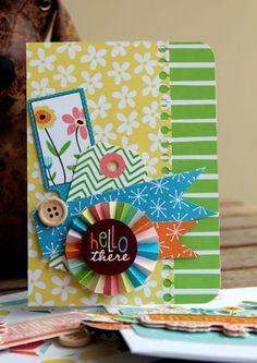 Hello There card - by Piradee Talvanna using Gardenia by American Crafts
