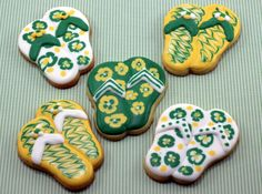 Some flip-flop cookies for my niece