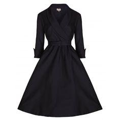 Little Wings Factory - Lindy Bop 'Vivi' Black Vintage Dress, £38.00…