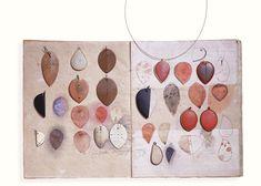 Hermann Jünger, sketches, sample pieces and pendants, 1983