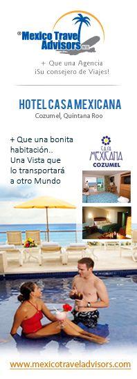 + Que Una Bonita Habitación... Una Vista Que Lo Transportara A Otro Mundo!!! Vive Cancún!!!...  Hotel Casa Mexicana - http://mexicotraveladvisors.com/