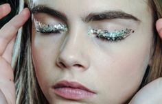 Cara at Chanel's backstage F/W 13